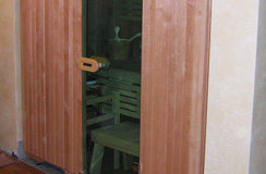 Special bio- sauna Variant set-up in a niche in a private home (Legnaro - PD)