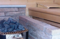 Precut sauna with woodburning stove (Bozzolo - Mantova - Italy)