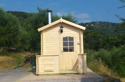 Set-up outdoor sauna mod. Kuikka (Diano Arentino - Imperia - Italy)