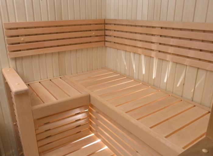 Special sauna (tailor made) with double door set-up inside an exclusive Hotel (Lugano - Suisse)