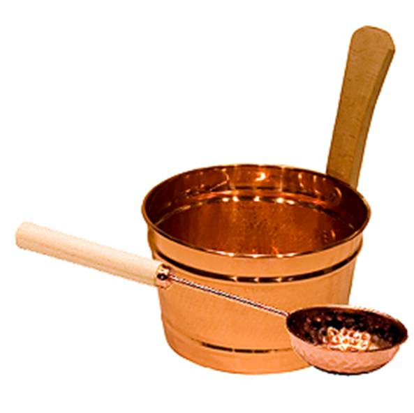 Copper bucket and ladle