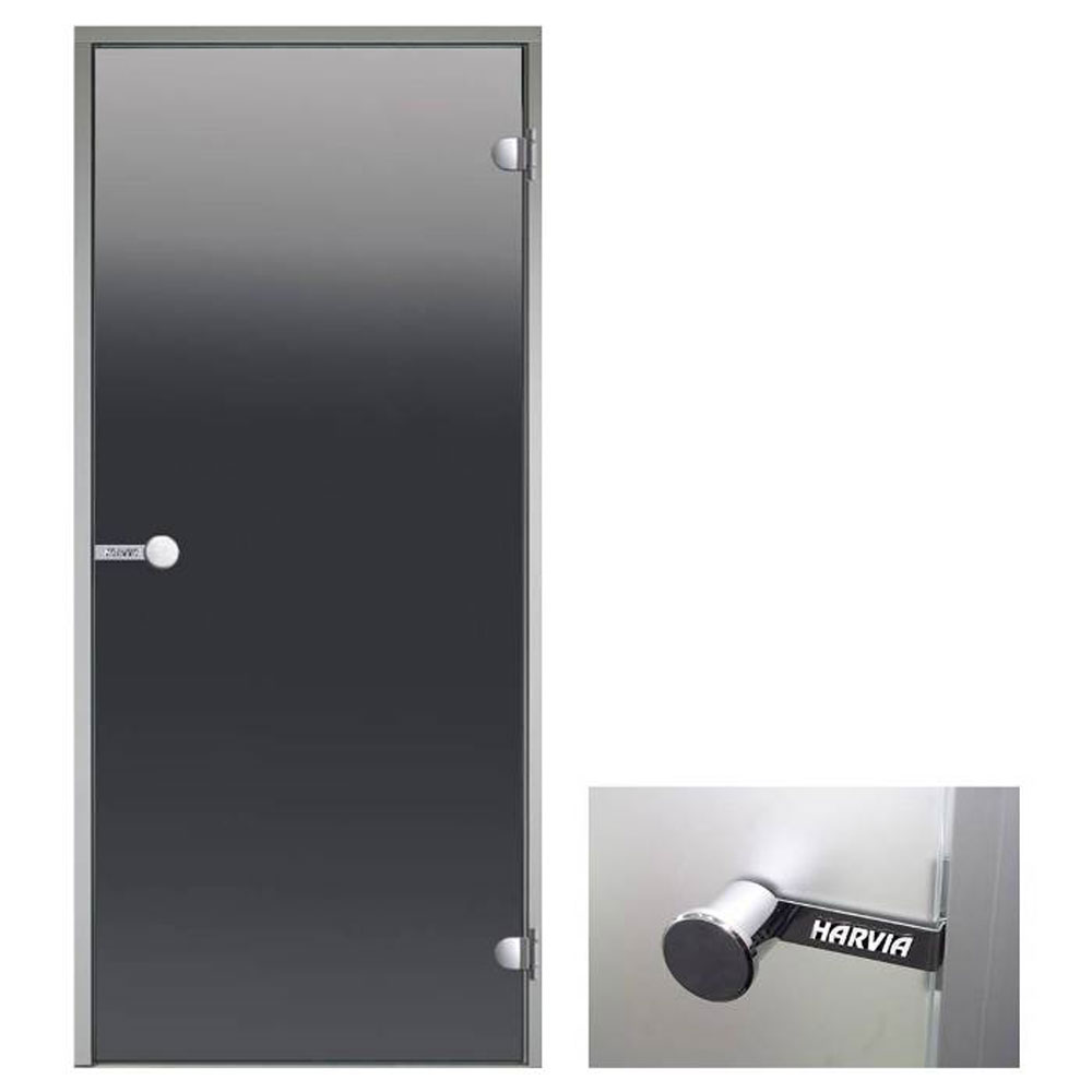 Glass door for steam room