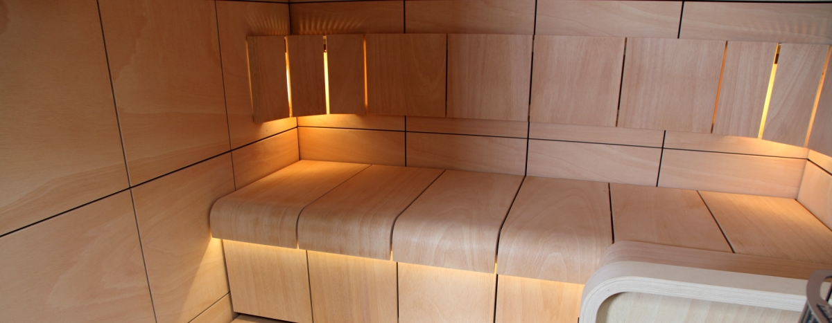 THE BEST SAUNA INTERIORS . . .