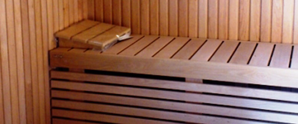 Precut sauna with woodburning stove at external alimentation (Arquà Petrarca - Padova - Italy)